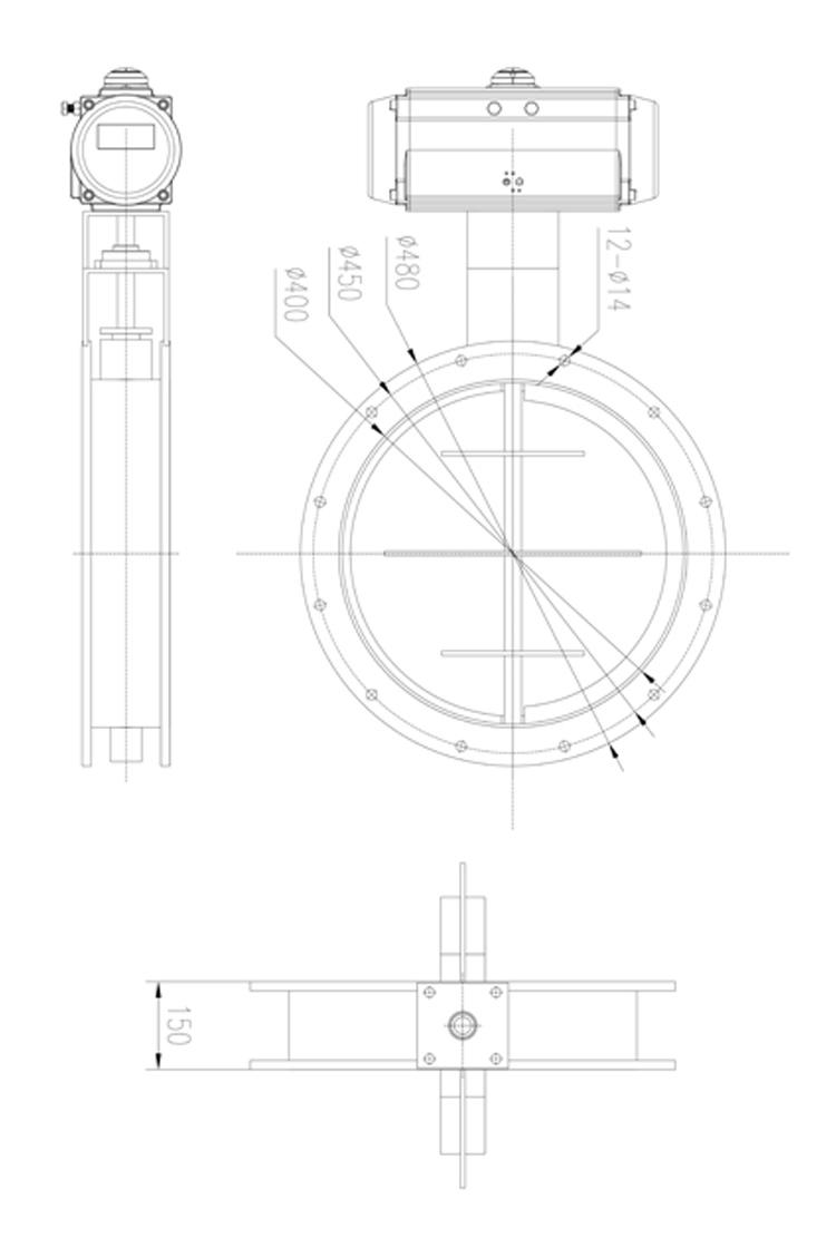 HIGHRATE气动圆形风阀/碳钢/不锈钢