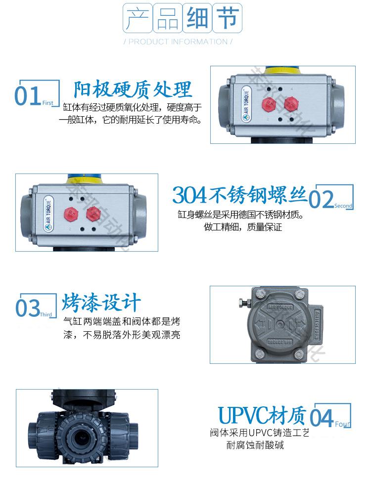 AIRTORQUE气动UPVC/PVC三通球阀