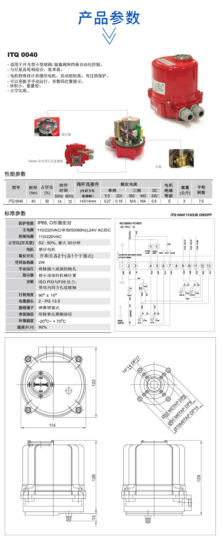 i-Tork电动执行器 itq0040
