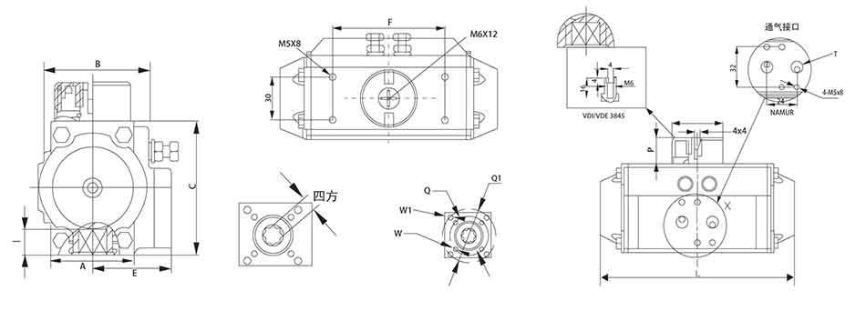 SEFORT气动执行器结构图