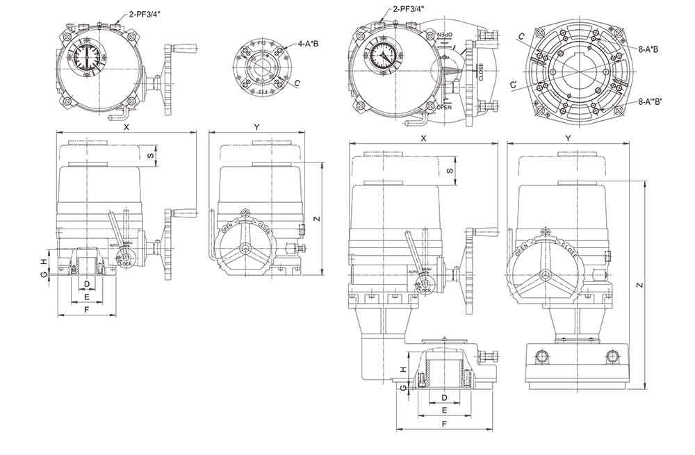防爆电动执行器结构