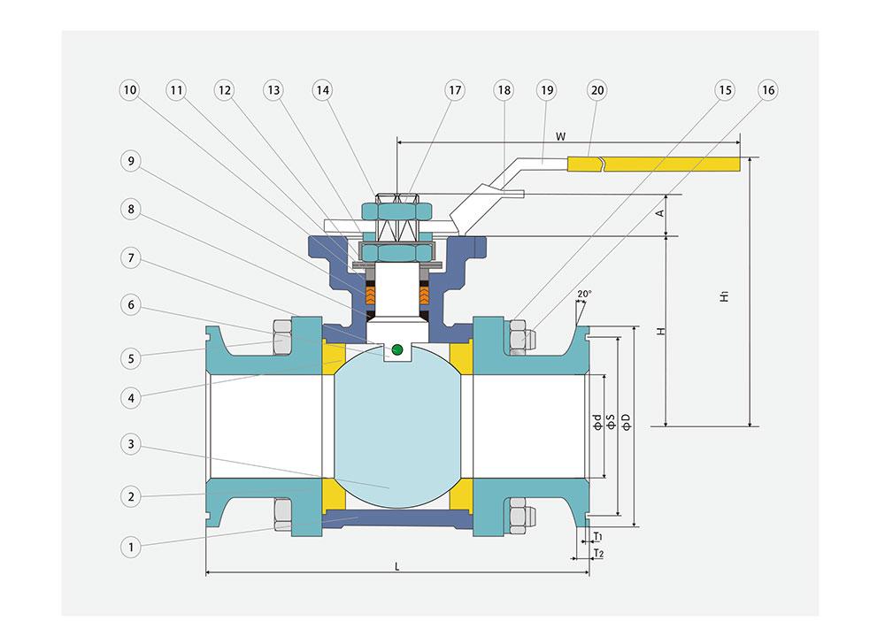 卡箍球阀结构图