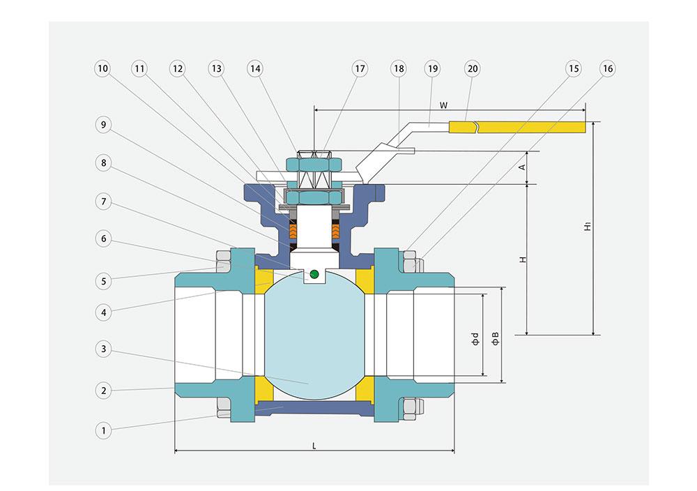 电动承插焊球阀结构图