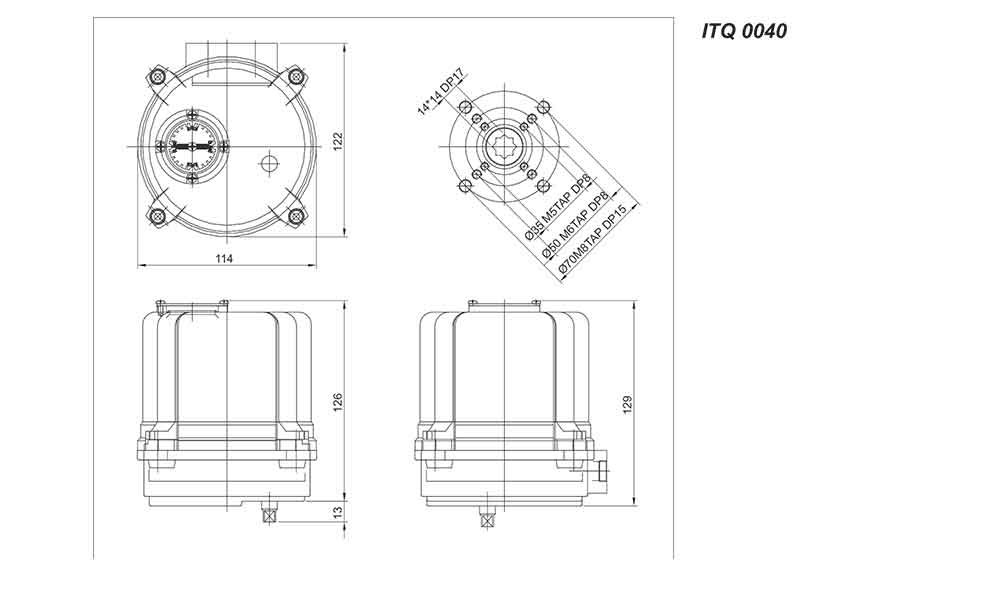 电动PVC/UPVC蝶阀结构