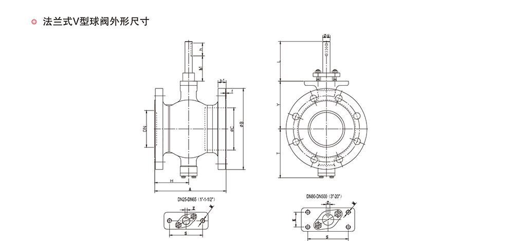V型球阀结构