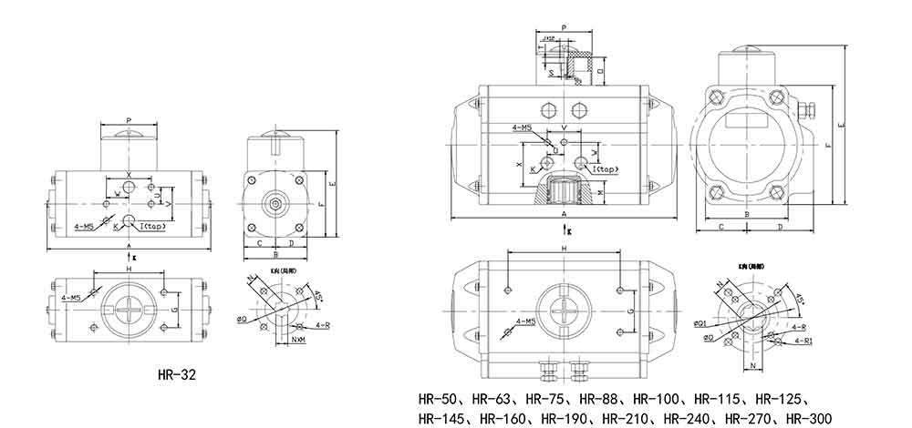 HIGHRATE气动执行器结构图